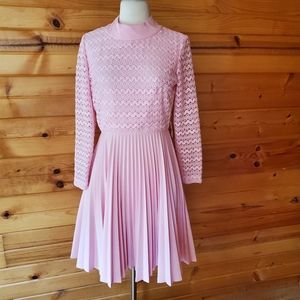 1960s Mary Dobb Pink Fit & Flare Party Dress